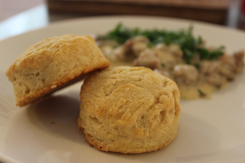 bouncing back with biscuits &gravy